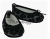 Elegant Leopard and Gray Ballet Flats 18 inch Girl or Bitty Baby Doll Shoes