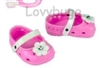 Pink Flower Clogs Sandals 18 inch Girl or Bitty Baby Doll Shoes