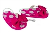 Hot Pink Spots Dots Flip Flops 18 inch Girl or Bitty Baby Doll Shoes