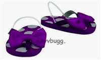 Purple Spots Dots Flip Flops 18 inch American Girl or Bitty Baby Doll Shoes