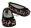 Elegant Pink and Leopard Ballet Flats 18 inch Girl Doll Shoes