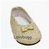 Gold Glisten 18 inch Girl or Bitty Baby Doll Shoes