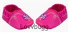 Pink Butterfly Slippers 15 inch Bitty Baby Doll Shoes