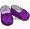 Purple Glitter Sparkle Canvas Tomsy Sneakers 18 inch Girl or Bitty Baby Doll Shoes