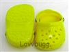 Yellow Clogs 18 inch Girl or Bitty Baby Doll Shoes