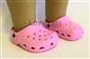 Pink Clogs 18 inch Girl or Bitty Baby Doll Shoes