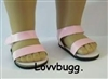 Pink Sandals 18 inch Girl or Bitty Baby Doll Shoes