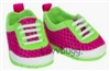 Pink and Green Athletic Mesh Sneakers 18 inch Girl or Bitty Baby Doll Shoes