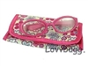 Hot Pink Eyeglasses with Case 18 inch American Girl Doll Accessory