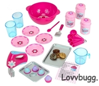 Complete Baking Set 23 pc American Girl Doll Food Accessory