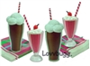 Soda Fountain Drinks Set Mini 18 inch American Girl Doll Food Accessory