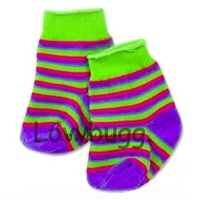 Striped Socks 18 inch Girl or Bitty Baby Doll Clothes Accessory