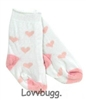 Pink Heart Socks 18 inch Girl or Bitty Baby Doll Clothes Accessory