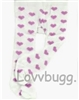 Lavender Heart Tights 18 inch Girl or Bitty Baby Doll Clothes Accessory