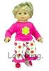 "Flower Pajamas for 15"" Bitty Baby 18"" American Girl Doll Clothes"