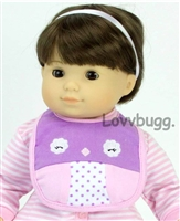 "Bitty Bird Doll Bib for 15"" Bitty Baby n Twins Doll Clothes Accessory"