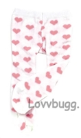 Pink Hearts Tight fit Bitty Baby Huggems n up-to-18 inch Doll