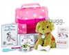 ASPCA Adoptable Puppy Dog Pet Set with Carrier Bowl Leash 18 inch American Girl Doll Accessory