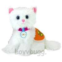 White Kitten Cat for 18 inch American Girl Doll Pet Accessory