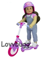 "Scooter with Helmet for 18"" American Girl Doll Fun Accessory"