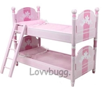 Pink Bunk Bed 18 inch Girl or Bitty Baby Doll Furniture