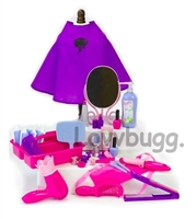 Hair Salon Tools Larger Set Beauty Parlor Girl Doll Accessory
