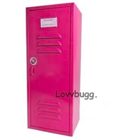 "Pink School Locker Trunk for 18"" American Girl Doll Clothes Storage Furniture"