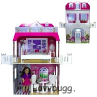 "Two Story Dollhouse for 18"" American Girl n Bitty Baby Doll Furniture"