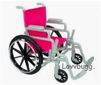 "Wheelchair for 18"" American Girl Doll Furniture Accessory"