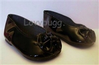 "Black Bow Shoes for 23"" Girl Twinn Doll Shoes"