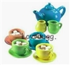 Colorful Tea Set 12 pcs 18 inch American Girl Doll Accessory--Food Safe!