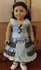 Blue Ruffles Sun Dress 18 inch American Girl or Bitty Baby Doll Clothes