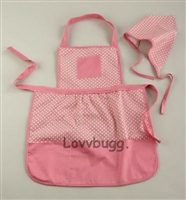 Pink Apron Set fits Child ages 5-12-ish