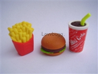 Hamburger Fries Drink Fast Food Meal 14 to 18 inch American Girl Doll Accessory