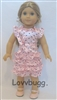 Pink Satin Ruffles Dots Dress 18 inch American Girl Doll Clothes