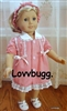 Coffee Shop Dress 18 inch American Girl or Bitty Baby Doll Clothes