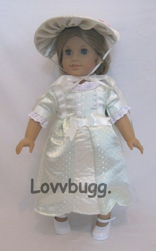 "Doll Clothes 18/"" Doll Colonial Party Summer Dress Fits American Girl Dolls"