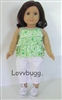 "Spring Green Complete Full Set for 18"" American Girl Doll Clothes"