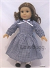 Black Gingham Checks Pioneer, Colonial or Victorian Dress for American Girl 18 inch Doll Clothes