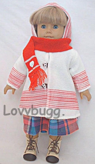 "Ladybug Cardigan Sweater made for 18/"" American Girl Doll Clothes"