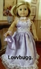 Fancy Lovely Lilac Dress Evening Gown 18 in Girl Doll Clothes