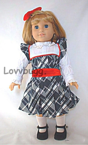 """Blue Plaid Purse made for 18/"""" American Girl Doll Clothes"""
