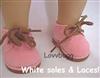 Pink Desert Chukka Boots 18 inch Girl or Bitty Baby Doll Shoes
