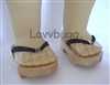 Lovvbugg Japanese Wood Sandals Geta for 18 inch American Girl Doll Shoes