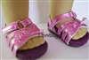 Pink Butterfly Sandals 18 inch Girl or Bitty Baby Doll Shoes