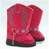 Red Cowboy Boots with Chain 18 inch Girl or Bitty Baby Doll Shoes