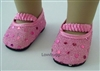 Pink Sequins Shoes for 18 inch American Girl Doll and Bitty Baby Doll