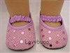 Lavender Sequin Shoes 18 inch Girl and Bitty Baby Doll Costume Accessory Clothes