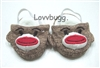 "Lovvbugg Sock Monkey Slippers for 18"" American Girl n Bitty Baby Doll Shoes"