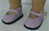"Lavender Mary Janes Doll Shoes for 18"" American Girl or Bitty Baby Clothes"